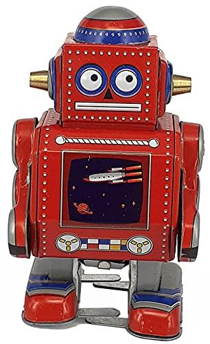 Robot Decorativo de Hojalata Rojo Nave Espacial . Robots de Cuerda. Colección. Regalos Originales. Detalles para Cumpleaños, Navidad y Reyes. PR