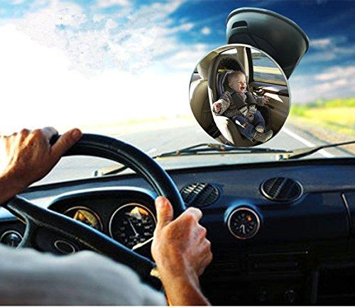 Specchietti Retrovisori Controllo Bimbo, EONPOW Specchio Auto Regolabile Per Bambini Specchietto