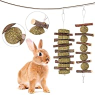limewie 2 Pack Bunny Chew Toys for Teeth, Apple Sticks Pet Chew Toy for Rabbits, Chinchillas, Hamsters, Chewing or Playing