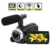Cámara de videocámara 4K WiFi cámara de vídeo Digital de 48 MP con Pantalla...