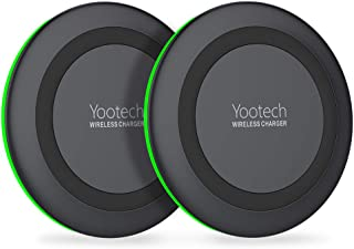 Yootech [2 Pack] Wireless Charger,Qi-Certified 10W Max Wireless Charging Pad Compatible with iPhone 11/11 Pro/11 Pro Max/Xs MAX/XR/XS/X/8, Galaxy Note 10/Note 9/S10/S9,New AirPods Pro(No AC Adapter)