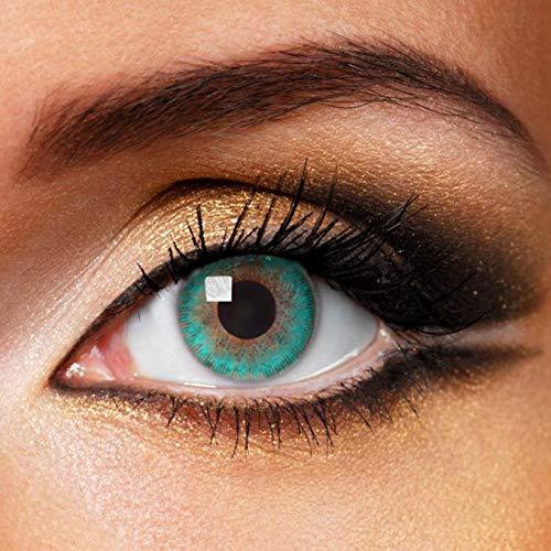 Fashionlens kleurlenzen - Aqua Green - jaarlenzen inclusief lenzendoosje - groene zachte contactlenzen