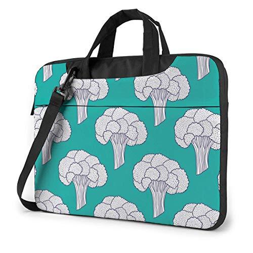 Adults Student Laptop Bag Protective Notebook Computer Protective Cover Handbag Vegetable White Broccoli