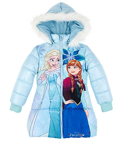Disney Die Eiskönigin ELSA & Anna Mädchen Winterjacke - hellblau - 128