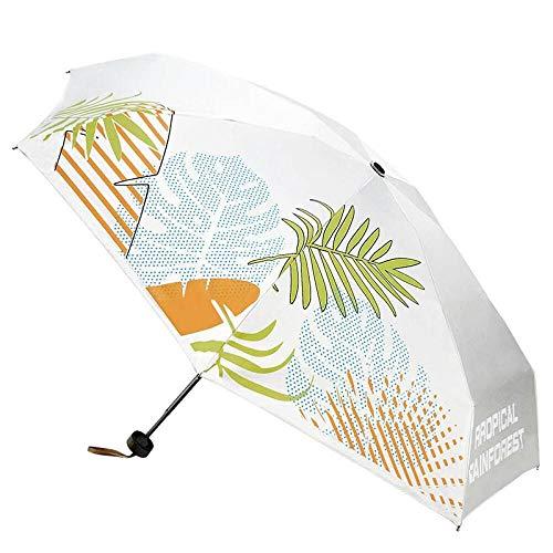 xmwm Mini paraguas de vinilo compacto para el sol, paraguas de bolsillo, para lluvia o brillo, de doble uso, ligero, paraguas plegable 53 cm x 7 huesos, tamaño único