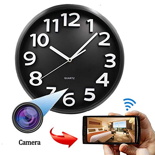Cámara Oculta Inalámbrica, Cámara De Reloj De Pared 1080P HD Cámara Spy Cámara IP Cámara De Visión Nocturna Cámara Oculta Cámara De Reloj De Pared WiFi, para El Hogar Y La Oficina