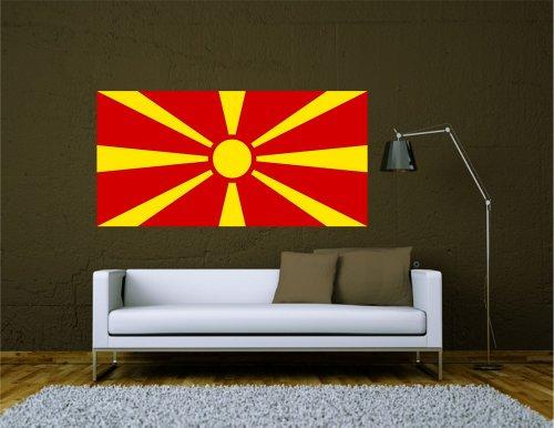 Kiwistar Wandtattoo Sticker Fahne Flagge Aufkleber Mazedonien 120 x 60cm