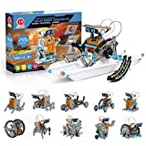 STEM Projects Solar Robot Creation Kit - 12-in-1 Construction Set, 190 Pieces - Science, Technology, Robotics, Math Skills - Moves on Land & Water - Educational Activity Gift