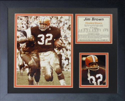 """Jim Brown - Running 11"""" x 14"""" Framed Photo Collage by Legends Never Die, Inc."""