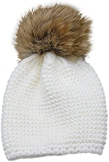 4ba3710c2ae22 Childrens Unisex Outdoor Warm Stylish Winter Beanie Hat with Detacahable  Pom Pom and Knit Design -