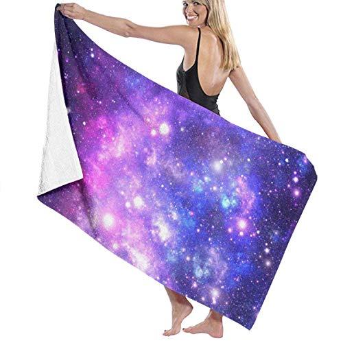 tyui7 Toalla de baño expansiva Universe Toallas de baño de Microfibra Suave Toalla de Playa para Hombres Mujeres, 80x130 cm