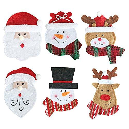 Portaposate con decorazioni natalizie. 6 pezzi