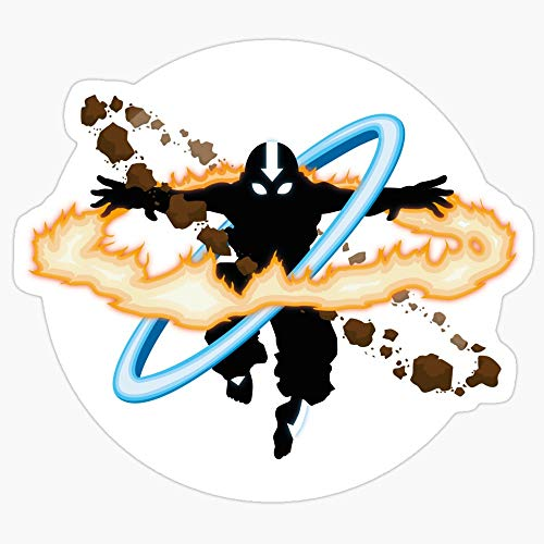 BeliNZStore Aang Going into uber Avatar State Stickers (3 Pcs/Pack)