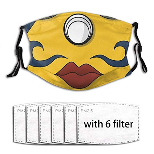 putao Mundschutz - Sogeking Wiederverwendbarer Staubschutz Mehrere Filter Mundschutz - Mit 6Filter-