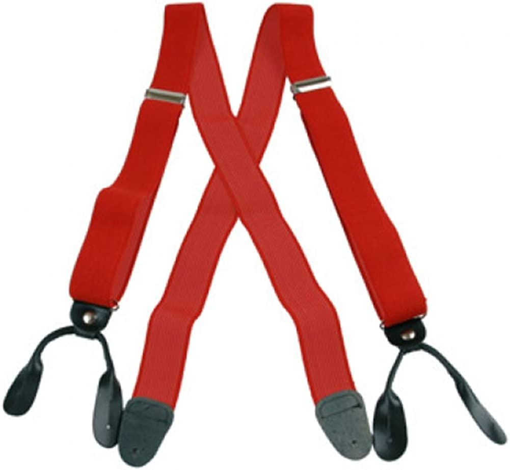 Suspender Factory Leather End Suspenders (2 Inch)