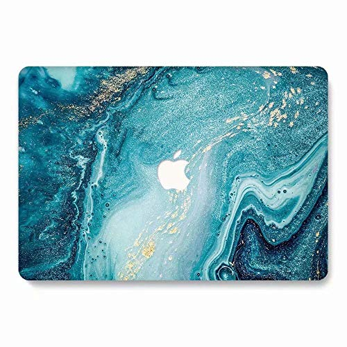 MacBook Retina 12 Case - AQYLQ Landscape Pattern Hard Cover Snap On Protective Case for The New MacBook 12' with Retina Display A1534 (2015 Release) - Creative Wave