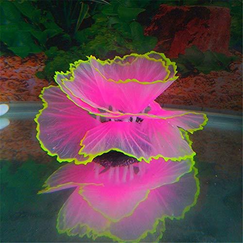 JoyRolly Plantas Acuario Naturales Plantas de Acuario Fish Tank Decorations and Accessories Fish Aquarium Decoration Aquarium Decoration Plants Pink,2.95inch