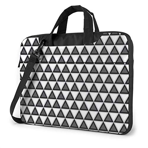 Laptop Bag Satchel Tablet,Black and White Geometric Laptop Shoulder Bag,Handle Carrying Computer Bag For Women & Men Ultra Thin Durable