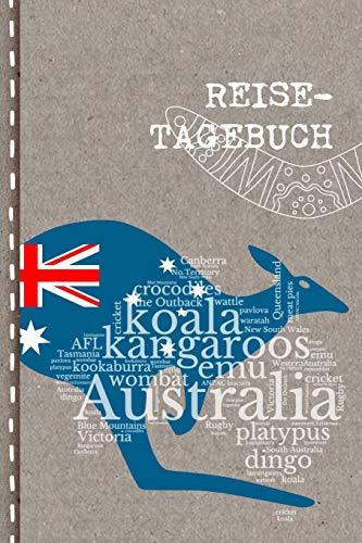 Reisetagebuch: Australien Reise Tagebuch punktiert zum Selberschreiben ca. A5 - Australia Journal Punkteraster für Urlaub, Ferien, Auslandsjahr, Au ... and Travel, Abschiedsgeschenk, Gastschüler