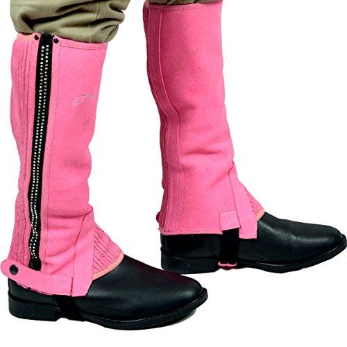 Riders Trend, Ghette da Equitazione Bambina, Cerniera Decorata con Brillantini, Rosa (Rosa - Rose), S