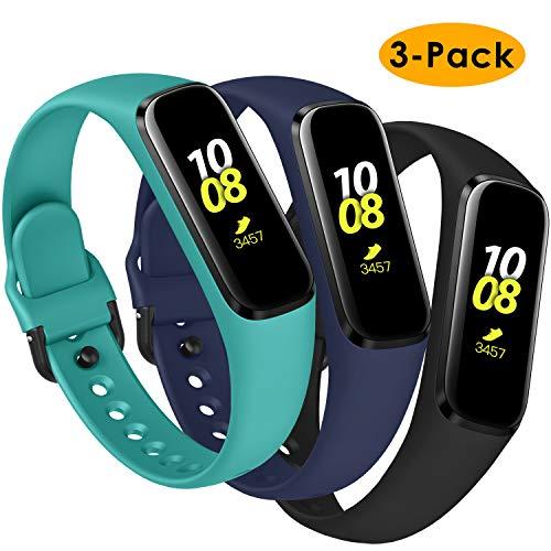KIMILAR armbanden compatibel met Samsung Galaxy Fit E armband silicone (niet voor Samsung Galaxy Fit) [3 Pack], zachte slank reserveband horlogeband voor Samsung Galaxy Fit E 2019 Smartwatch