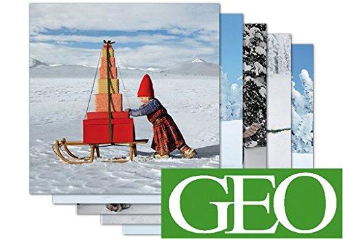 - Confezione da 5: La 5più belle di Natale biglietti di auguri Geo + + + di modern times