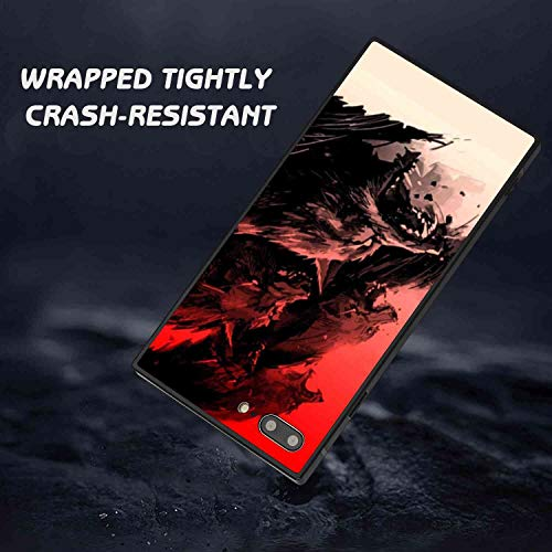Square Phone Case Fit for iPhone 7 Plus, iPhone 8 Plus Wolf Soft TPU Fashion Bumper Shockproof Protective Cover