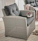 Destiny Loungesessel Riviera Vintage Weiß Lounge Sessel Gartensessel Sofasessel
