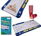 Bada Bing 23 TLG. Luftmatratze mit Integriertem Trinkspiel Pool Pong Ca. 152 x 76 cm Partyspiel...