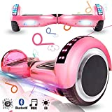 Magic Vida Skateboard Elettrico 6.5 Pollici Bluetooth Power 700W con Due Barre LED Monopattini...
