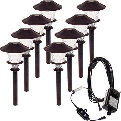 8 Pack Paradise Aluminum LED Low Voltage Path Light Kit (Oiled Bronze)