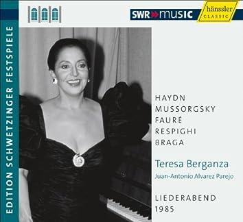 Teresa Berganza: An Evening of Song (Schwetzinger Festspiele Edition, 1985)