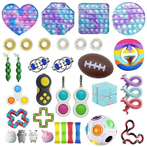 Stretchy String Puzzle Balls Squishy 22PCS Fidget Sensory Toy Set Jouets Sensoriels Fidget Soulagement du Stress avec Bulle Stress Balls