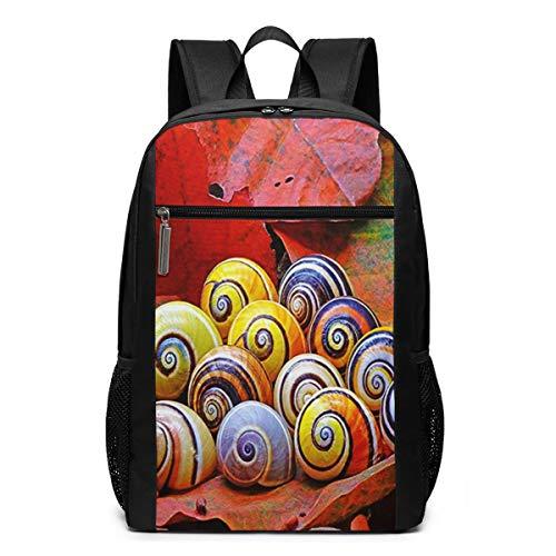 Schulrucksack Hübsche Schneckenhäuser, Schultaschen Teenager Rucksack Schultasche Schulrucksäcke Backpack für Damen Herren Junge Mädchen 15,6 Zoll Notebook