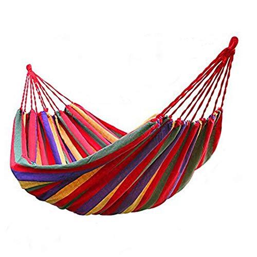 Altalena amaca da appendere in corda con 2 cuscini per uso giardino, sedia a dondolo da viaggio, sedia a dondolo per esterni, amaca da appendere (colore: rosso 190 x 100 cm)