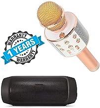 Drumstone Wireless Bluetooth Karaoke Microphone with Bluetooth Speaker