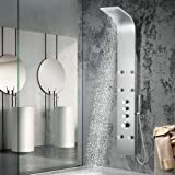 Magnus Home Products Alberton Thermostatic Stainless Steel Shower Panel w/Hand Shower, 8 2/3' L x 17 3/4' W, 106.0 lb