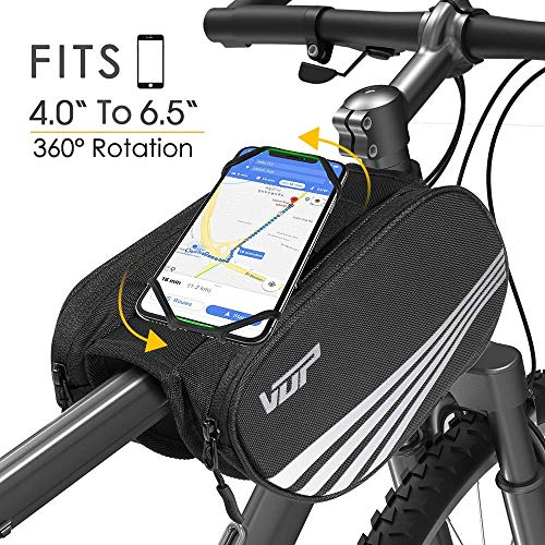 Review Of VUP Bike Front Frame Bag,Universal Bicycle Motorcycle Handlebar Bag,Top Tube Bike Bag with...