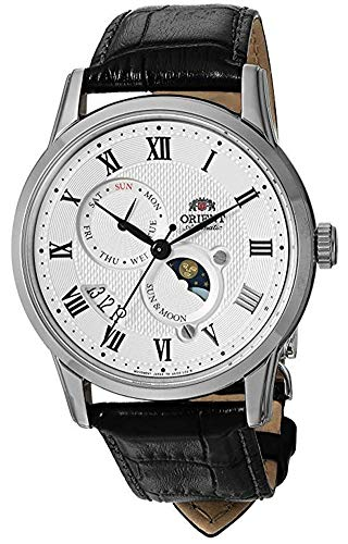 Orient Men's 'Sun and Moon Version 3' Japanese Automatic Stainless Steel and...