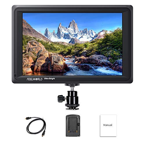 Feelworld FW279S 7 Zoll Ultra Bright DSLR Kamera Field Monitor Camera Full HD Focus Video Assist 1920x1200 IPS mit 4K HDMI 3G SDI Input Output 2200nit Hohe Helligkeit