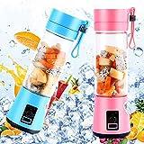Mini Liquidificador Portátil Shake Eletrico Juice Cup Azul