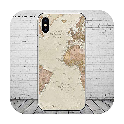 All-Equal World Map Reizen Telefoonhoesjes Voor Iphone 11 Pro Max Cover Voor Iphone Xr 8 7 6 6S Plus X Xs Max 5S Se Soft Shell, For iphone 7Plus, WM02361 afzuigkapaccessoire