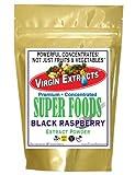 Virgin Extracts (TM) Pure Premium Raw Freeze Dried Organic Black Raspberry Powder Extract Concentrate 8oz Pouch (5 X Stronger) Black Raspberry Powder Raspberries Superfood