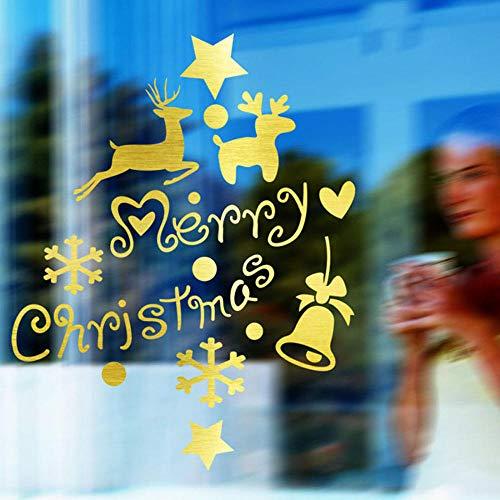 Cooldeerydm kerstster, vinyl, wandstickers, ramen, huis, shop, decoratie, afneembaar cadeau, decoratie voor kinderen, woonkamer, behang, muurschilderingen, SA933-Custom_color_57 x 73 cm