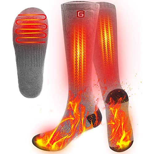 SVPRO Men WomenRechargeable Electric Heated Socks Battery Heat Thermal Sox,Sports Outdoor Winter...