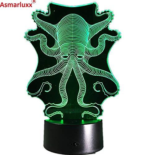 Octopus Esstisch Nachtlicht Touch Light als Nachttischlampe Farbwechsel Atmosphäre Lampe Kinder Dekoration Lampe