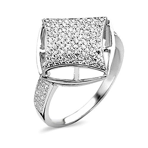 Velini mujer R6826, plata esterlina 925, micro pave texto, AAA-Calidad 88 Cubic piedras zirconia, chispa como diamantes.