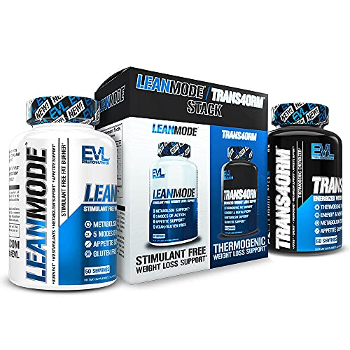 Evlution Nutrition Trans4ormation Mode Stack Trans4orm (60 Serving), Lean Mode (50 Serving) Weight Loss Diet Kit, Diet Pills for Men and Women