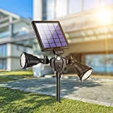 Solar Spot Lights Outdoor 36 LED Landscape...
