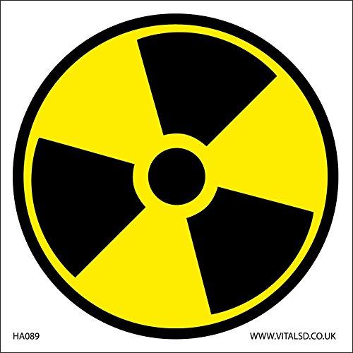 S/écurit/é ISO Sign/ /International Radioactive Hazard Symbol/ /Self Autocollant 100/mm x 100/mm